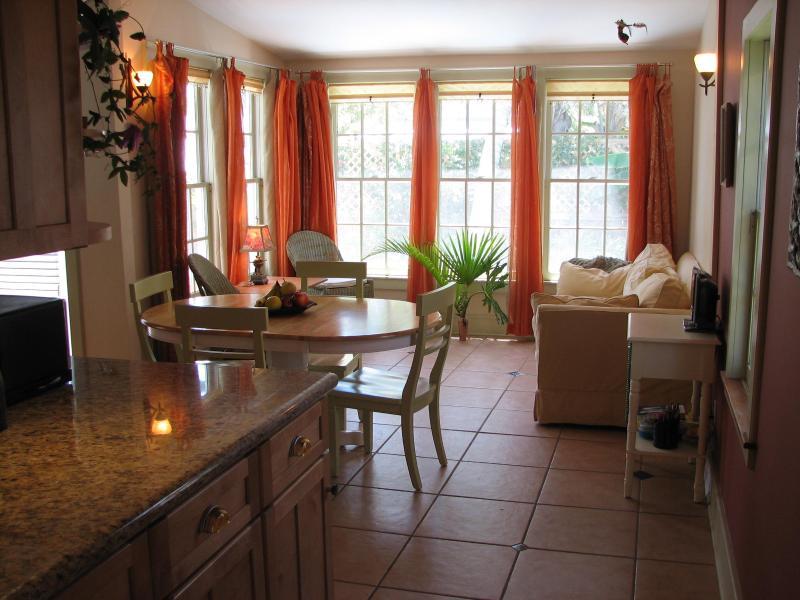 Kitchen/dining/LR overlooking back yard