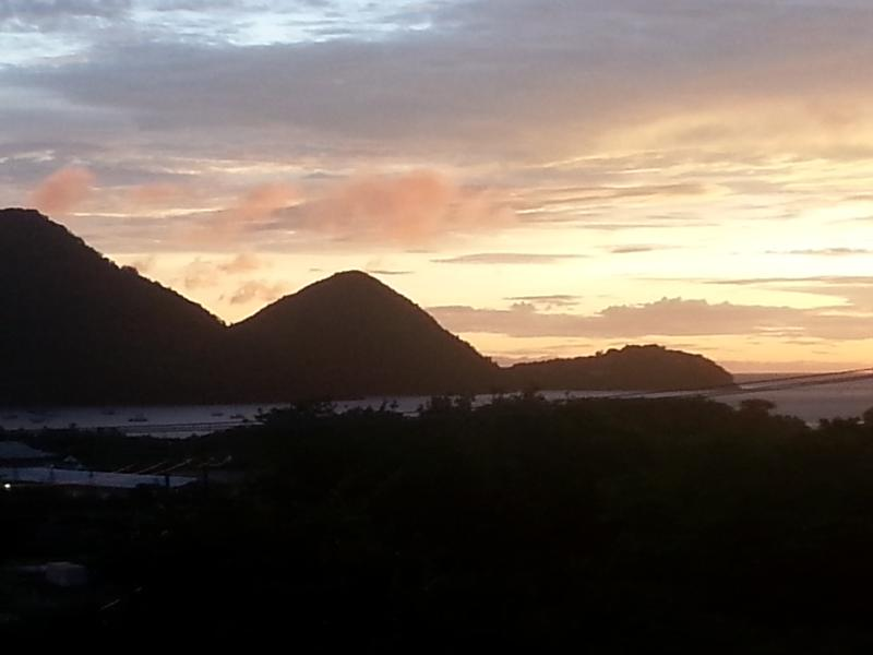 View of Sunset from Belle Kaye Gladstone Balcony