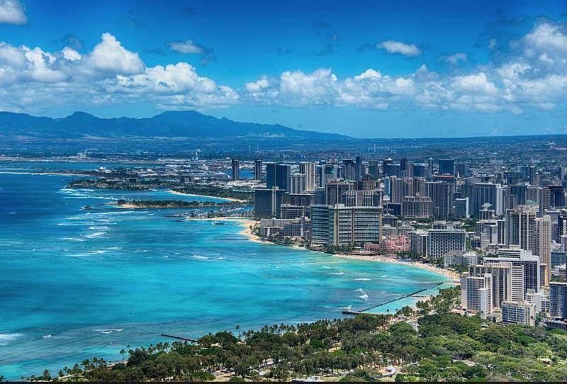 View of Waikiki from Diamond
