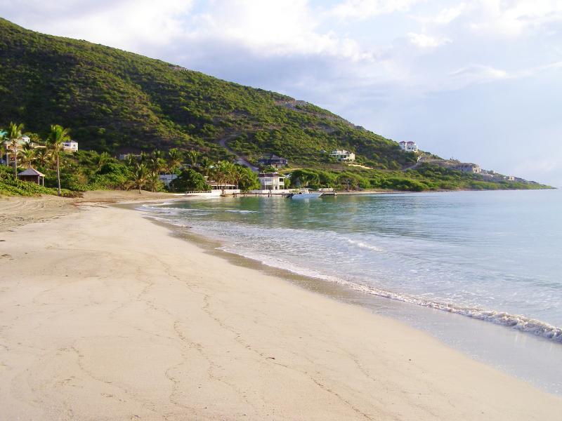 Beautiful Turtle Beach a few minutes walk from Ocean Song Villa.