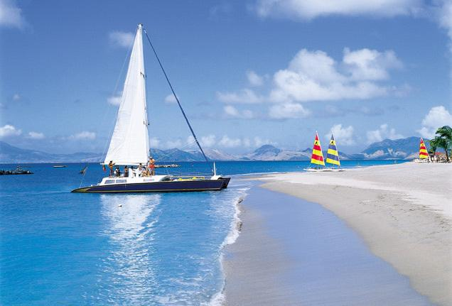 Catamaran day trip to Nevis. A fantastic way to spend the day.