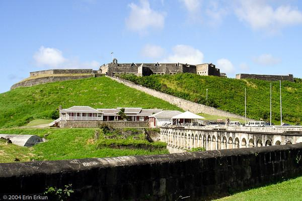 Brimstone Hill Fortress, a World UNESCO heritage site. Well worth the tour. St. KItts.