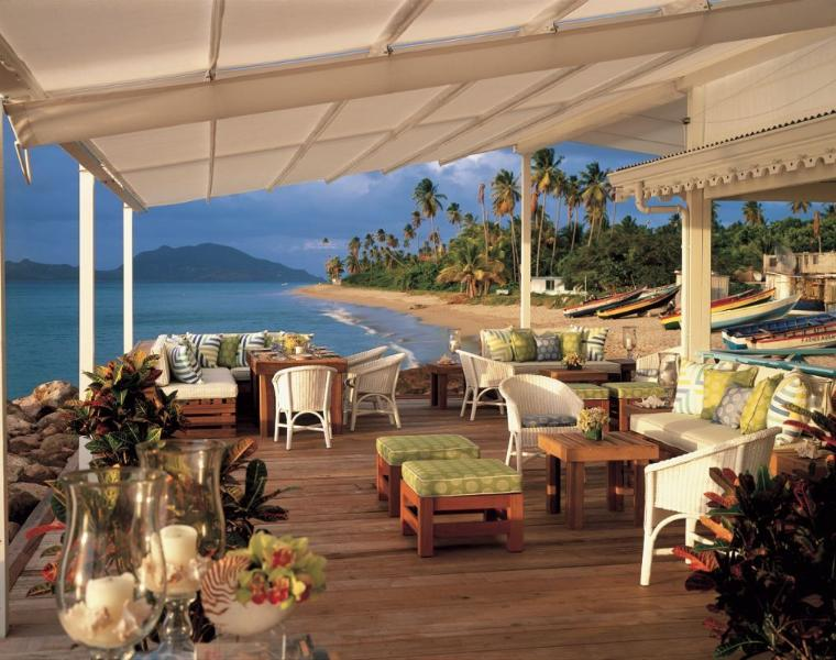 Mangoes restaurant on Nevis. One of many great spots for lunch on your Nevis island tour.