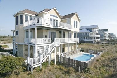 Ocean side view of home