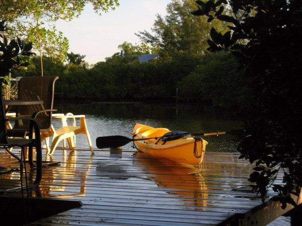 Dock with Kayak
