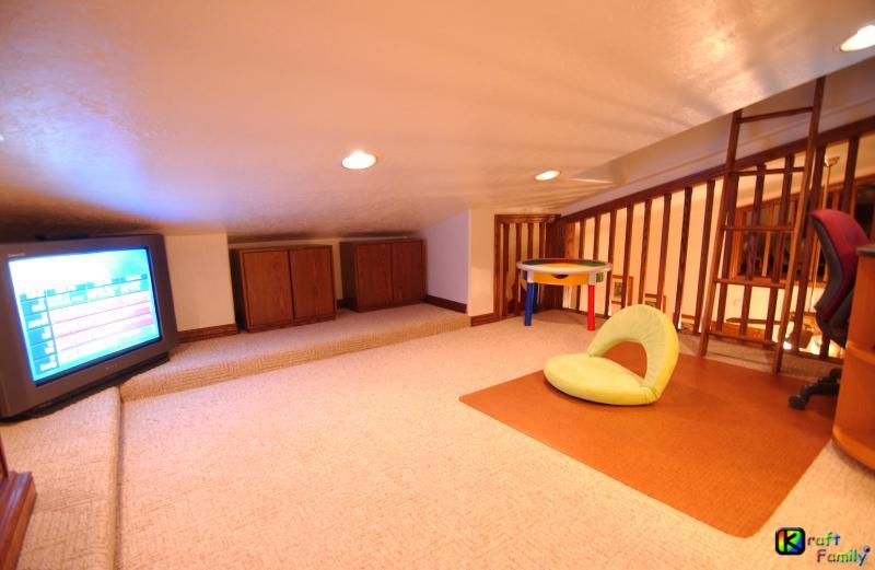 Loft #3 del paquete opcional triple infantiles loft.  Sala de juegos, cama futón single