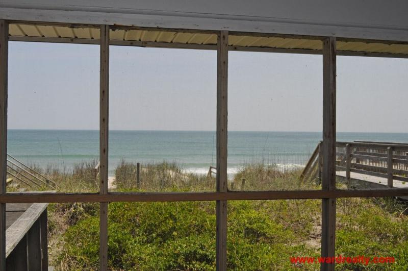 View of the Ocean from Screened in Porch