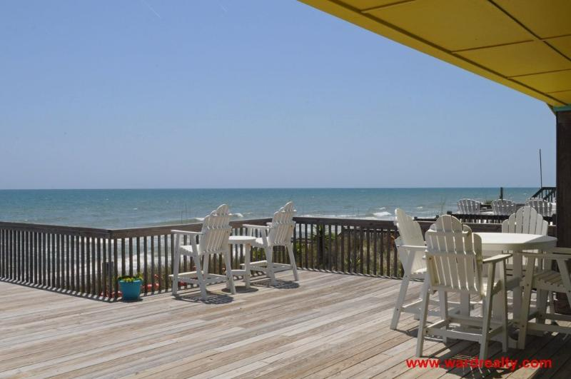 Oceanfront Deck with Furniture