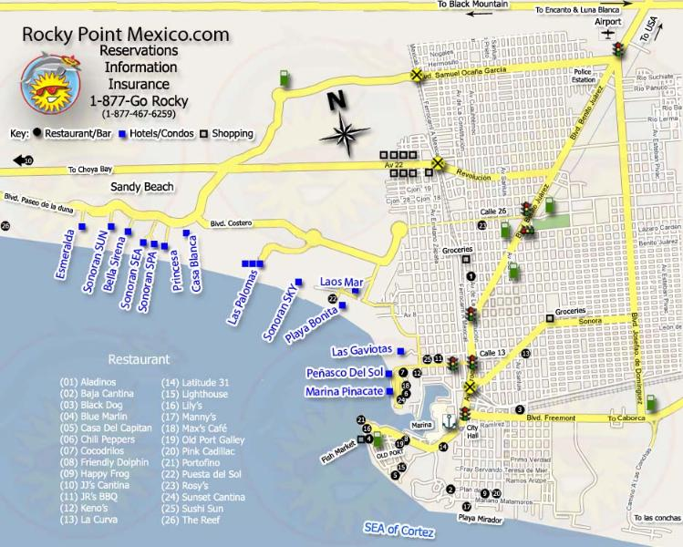 Map of Puerto Penasco