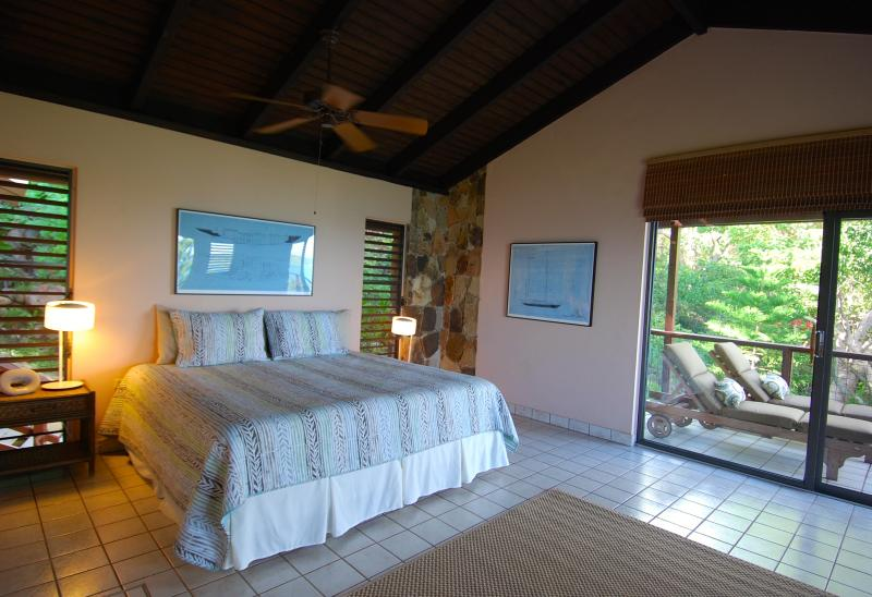 Second King Bedroom. Floor - to Ceiling Sliding Glass Doors onto your Private Balcony