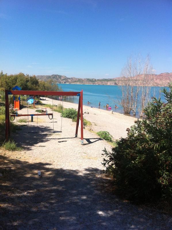 Childrens play area at Freila beach.