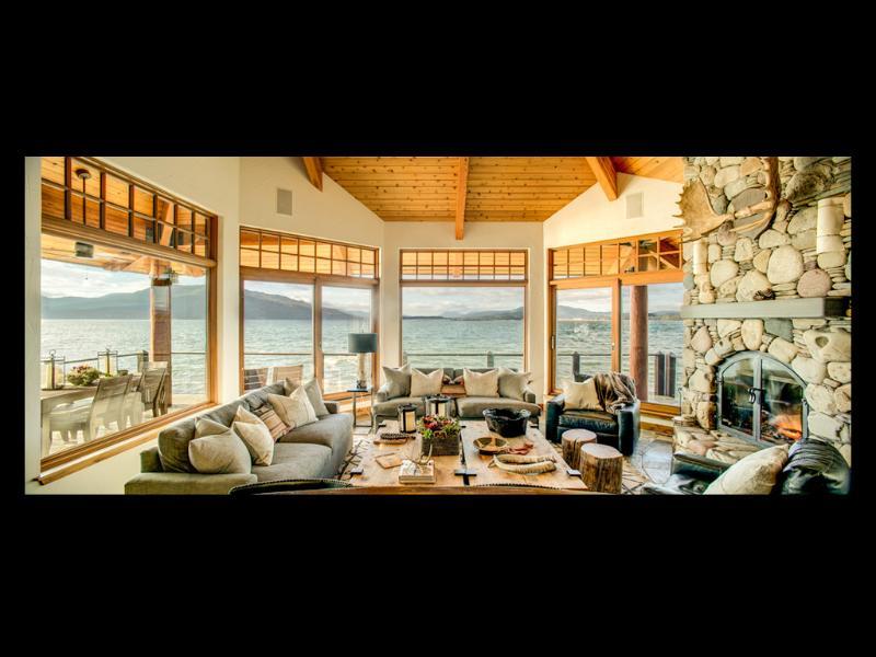 Un sorprendente 'gran sala' con vistas panorámicas.