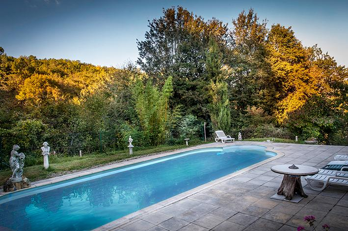 Ancient country side cottage,40 feet swimming pool, covered outdoor living place, vacation rental in Saint-Andre-d'Allas