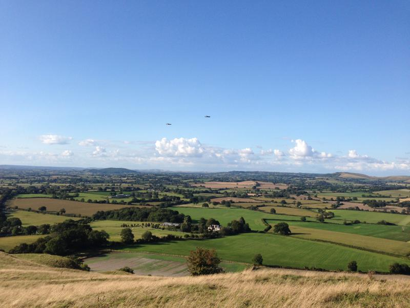 view from Hambledon Hill,  look carefully and u will see 2 Lancaster planes doing a fly past!