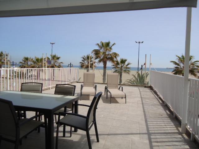 Terraza en 1º linea de Playa