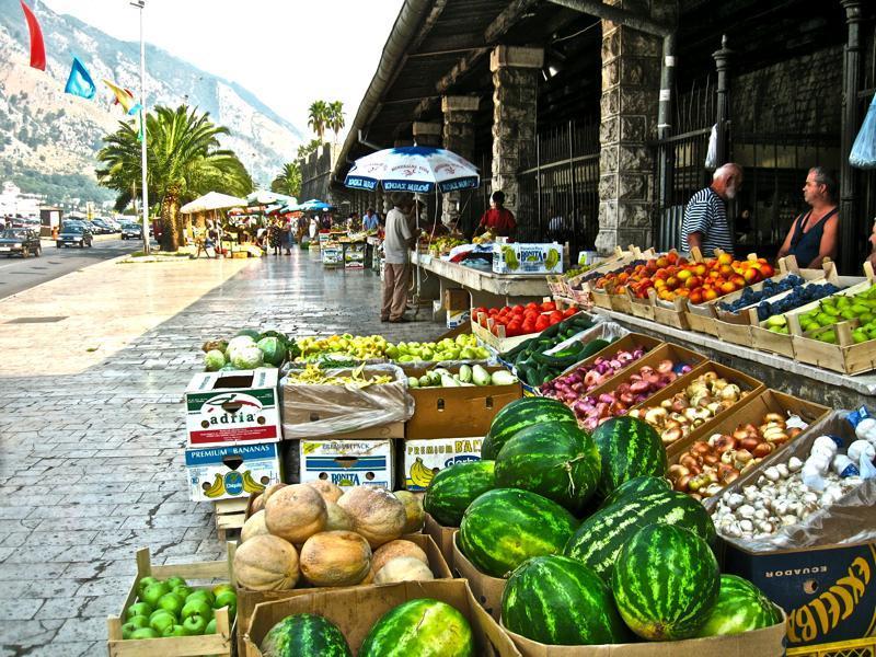 Market in Kotor  2km