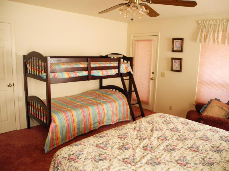 Master king bed and bunk