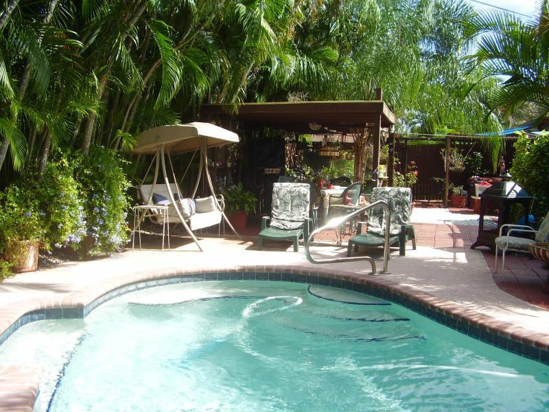 Pool side & garden.
