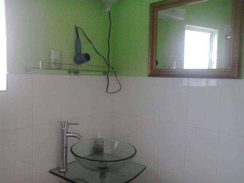 Bathroom with unique modern fixtures