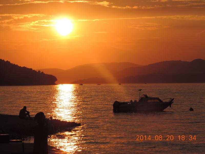 La baie avant le coucher du soleil
