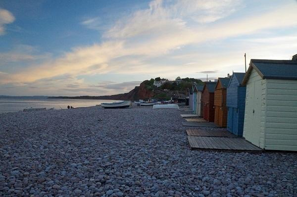 Beach huts can be hired at Budleigh beach during your stay at Pebbles the Apartment