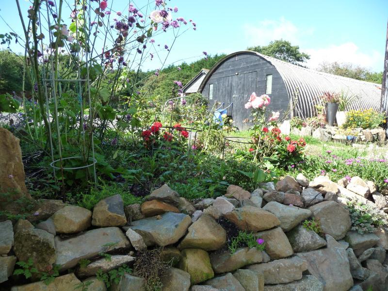 Alguns dos jardins no Puckator Farm