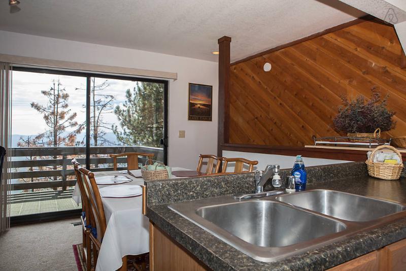 Kitchen looking towards deck