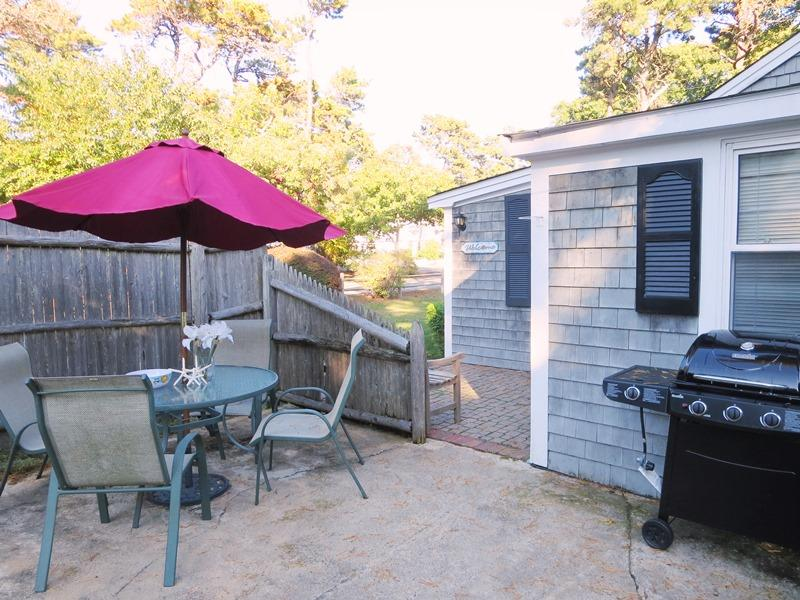 Patio with Gas grill - 130 Belmont Road West Harwich Cape Cod New England Vacation Rentals