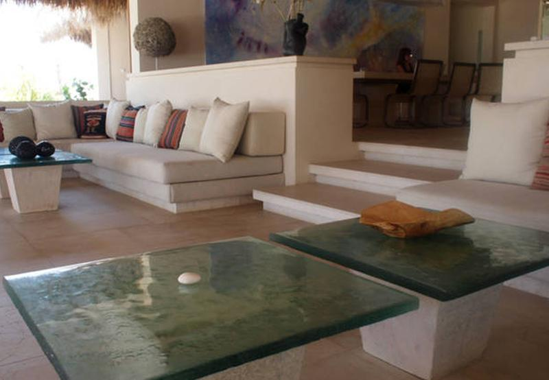 Comfortable and spacious great room with unobstructed ocean views.