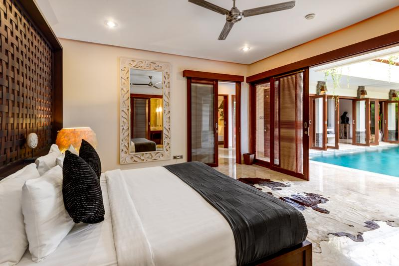 Villa Menari, Master Bedroom overlooking Pool