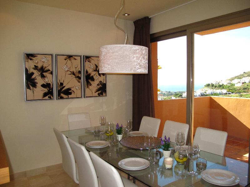 Elegant Dining Area with Sea Views