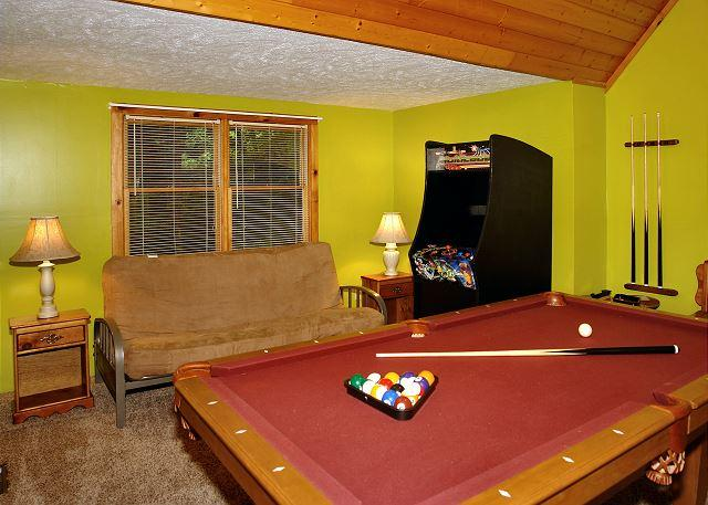 Parkside Party #1676- Pool Table & Arcade Game