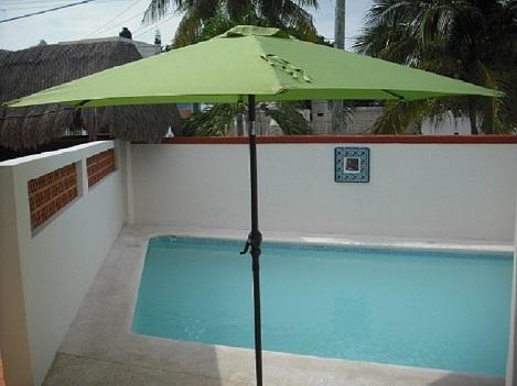 Swimming pool & lounge area.