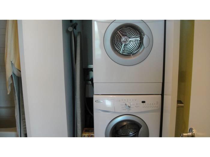 Wasmachine droger in eenheid