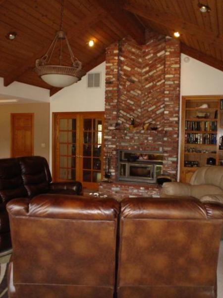Living room toward fireplace