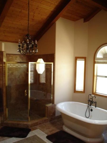 Master Bathroom Shower and Tub