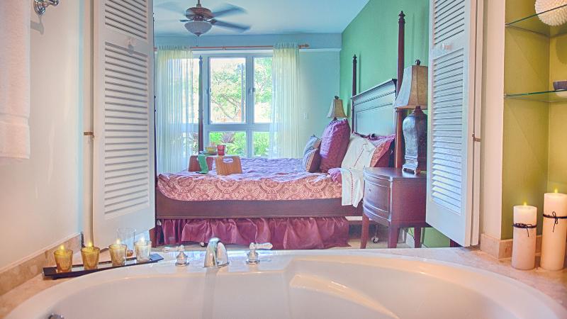 View from master en suite to bedroom