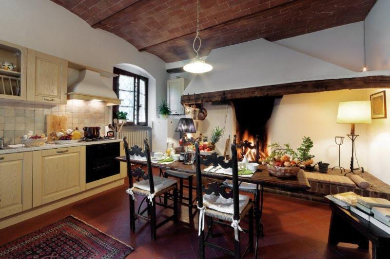 FOCOLARE Apartm. in Chianti Farmhouse, alquiler vacacional en Montegufoni