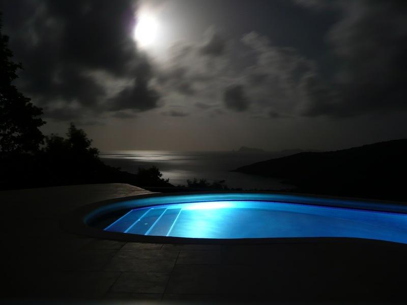 moonlight over pool