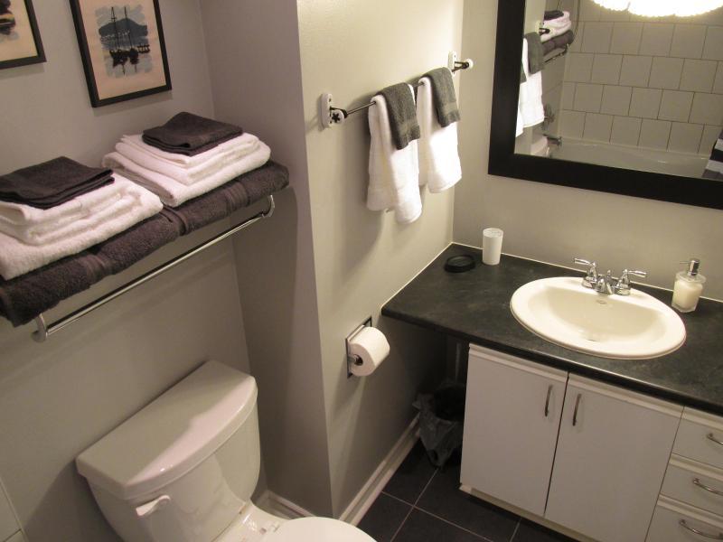 4 piece washroom adjacent to bedroom