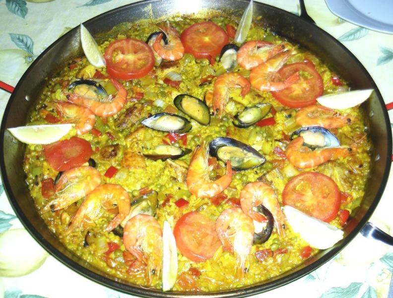 Enjoy traditional spanish paella
