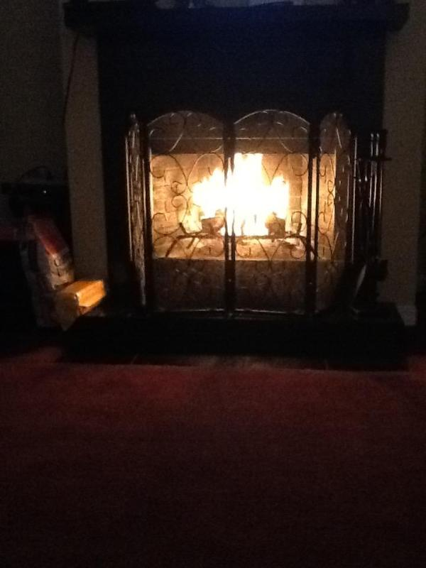Sit in front of the wood burning fire place with a nice cup of hot chocolate before bed.