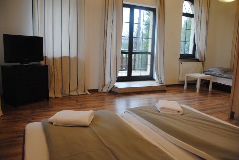 The superior double room for romantic night at the Villa Chamonix.