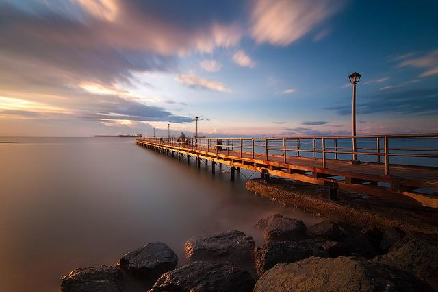 Pier near the apartment, enjoy a coffee & take a stroll