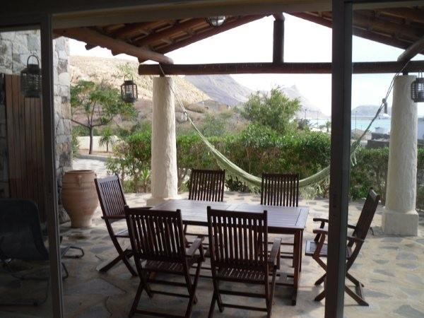 Very spacious exterior with wonderful sea and mountains view.