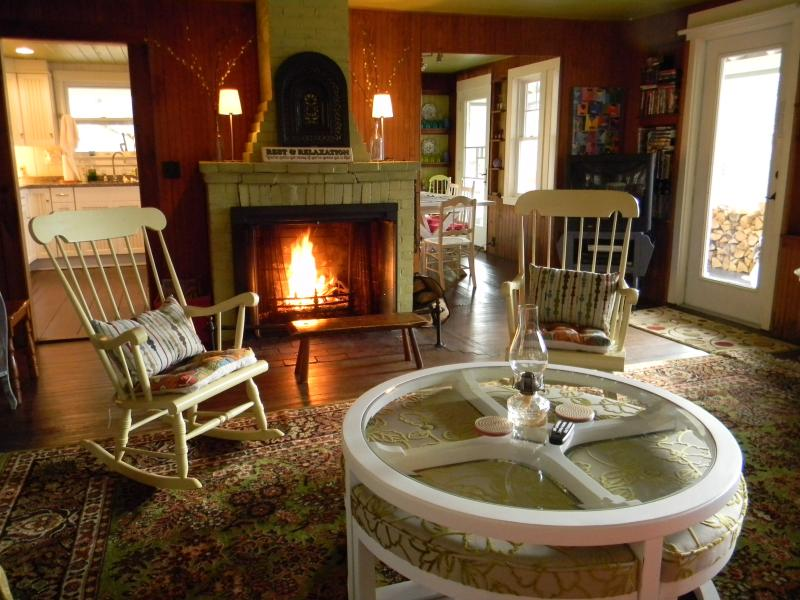 Get cozy by the fire. Firewood on premises.