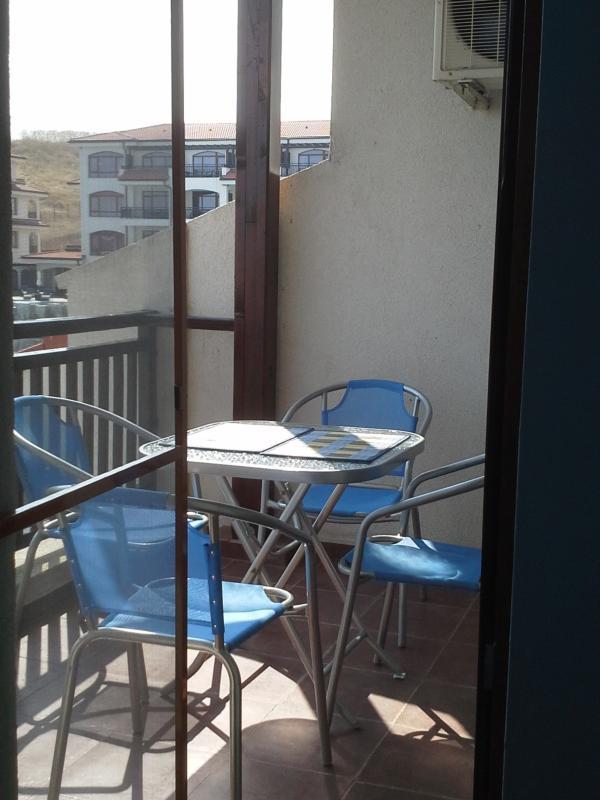 Möblierter Balkon mit toller Aussicht