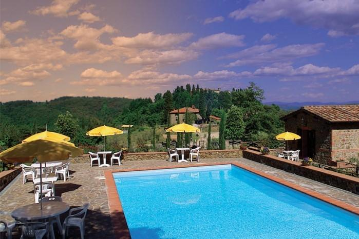 Chianti Castle lodging with Terrace and view,Wi Fi,Swimming Pool,restaurant,G, vacation rental in Nusenna