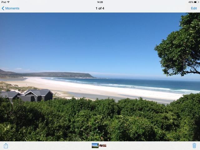 Noordehoek hermosa con kilómetros de playa