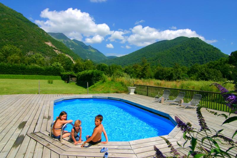 Outdoor summer swimmingpool